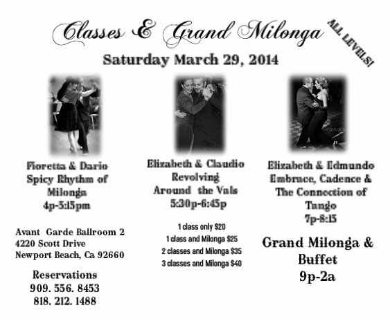 Classes and Milonga